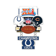 Super Bowl XLI (41) Colts vs. Bears Champion Lapel Pin