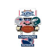 Super Bowl XXXIX (39) Patriots vs. Eagles Champion Lapel Pin