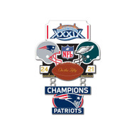 Super Bowl XXXIX (39) Patriots vs. Eagles Champion Lapel Pin