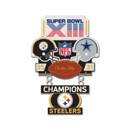 Super Bowl XIII (13) Steelers vs. Cowboys Champion Lapel Pin