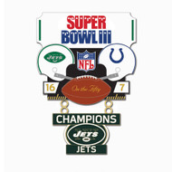 Super Bowl III (3) Jets vs. Colts Champion Lapel Pin