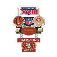 Super Bowl XXIII (23) Bengals vs. 49ers Champion Lapel Pin