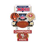 Super Bowl XXIII (23) Bengals vs. 49ers Champion Lapel Pin