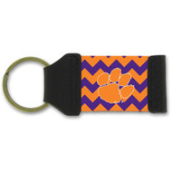 Clemson University Chevron Keychain