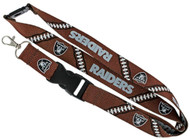 Oakland Raiders Football Laces Lanyard