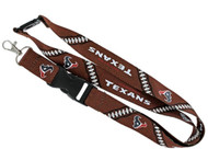 Houston Texans Football Laces Lanyard