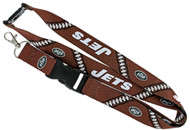 New York Jets Football Laces Lanyard