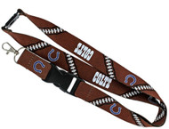 Indianapolis Colts Football Laces Lanyard