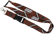 Carolina Panthers Football Laces Lanyard