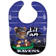 Baltimore Ravens Teddy Bear All Pro Baby Bib