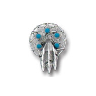 Indian Feathers Lapel Pin