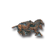 Running Horses Lapel Pin