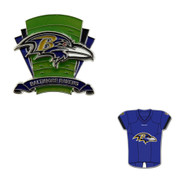 Baltimore Ravens Logo Field Pin and Jersey Pin