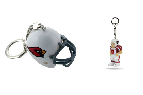 Arizona Cardinals Helmet and LIL' SPORTS BRAT Keychain