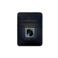 Horse Head Leather Money Clip Cardholder