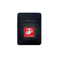 Marines Leather Money Clip Cardholder