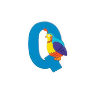 Wooden Blue Quail Letter Q Magnet by The Toy Workshop