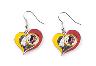 Washington Redskins Swirl Heart Earrings (2 Pack)