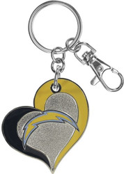 San Diego Chargers Swirl Heart Keychain