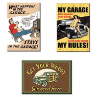 Bundle - 3 Items: Garage Magnets