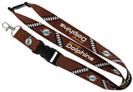 Miami Dolphins Football Laces Lanyard
