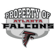 Atlanta Falcons Property Of Cloisonne Pin