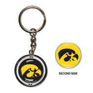University of Iowa Spinner Keychain (WC)