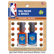 New York Knicks Nail Polish Team Colors and Nail Decals