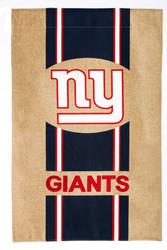 New York Giants Burlap Garden Flag