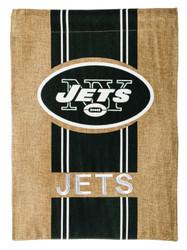 New York Jets Burlap Garden Flag