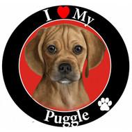 I Love My Puggle Magnet