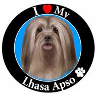 I Love My Lhasa Apso Magnet