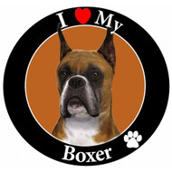 I Love My Cropped Boxer Magnet