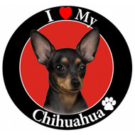 I Love My Black Chihuahua Magnet