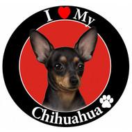 I Love My Black Chihuahua Magnet