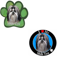 Bundle: Two (2) Black and White Shih Tzu Magnets