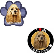 Bundle: Two (2) Cocker Spaniel Magnets