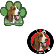 Bundle: Two (2) Basset Hound Magnets