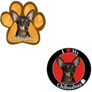 Bundle: Two (2) Black Chihuahua Magnets