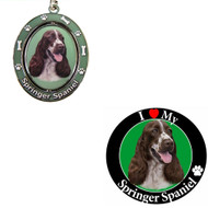 Bundle - 2 Items: Springer Spaniel Spinning Keychain and I Love My Magnet