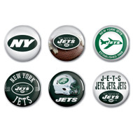 New York Jets Buttons 6-Pack