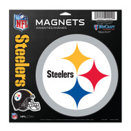 "Pittsburgh Steelers 11""x11"" Car Magnet Set"