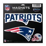 """New England Patriots 11""""x11"""" Car Magnet Set"""