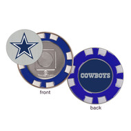 Dallas Cowboys Poker Chip Golf Ball Marker
