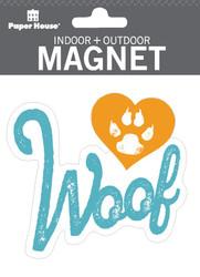 Woof Indoor Outdoor Die-Cut Magnet