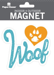 Woof Indoor Outdoor Die-Cut Magnet