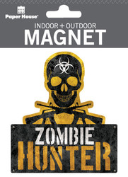 Zombie Hunter Indoor Outdoor Die-Cut Magnet