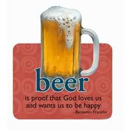 Mug of Beer Die-Cut Wit & Wisdom Magnet