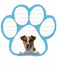 Jack Russell Dog Paw Magnetic Note Pad