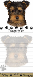 Yorkshire Terrier Puppy Magnetic Sticky Note Pad